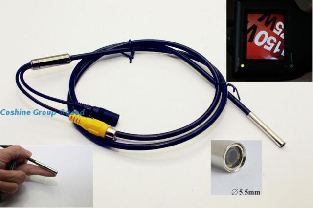 Taiwan HD 720X625 pixels 12v AV Endoscope Borescope Snake Scope Camera 4 LEDs