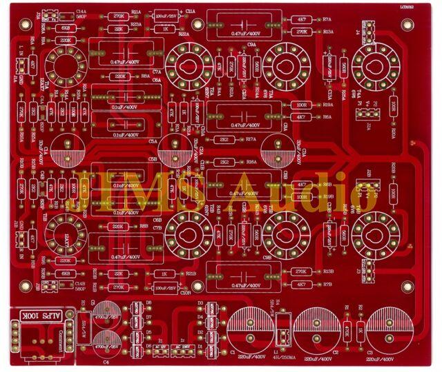 6V6 push-pull tube power amplifier stereo premium grade PCB !