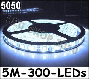 5M-Cool-White-Super-Bright-5050-SMD-LED-Waterproof-Flexible-Strip-12V-300-LEDs