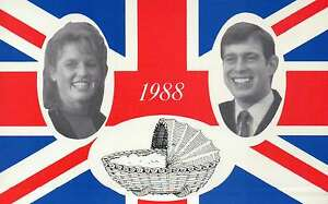 Birth of First Child, Prince Andrew and Sarah Ferguson LE Royal Family Postcard