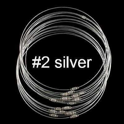 20PCS Stainless Steel Chain Cord Necklace screw Clasp assorted 18inch long