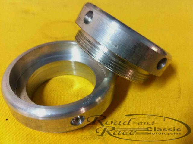 Norton Manx Style Alloy Fork Seal Retainers For Roadholder Sliders