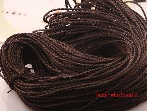 5m-Dark-Brown-Man-made-Leather-Braid-Rope-Hemp-Cord-For-Necklace-Bracelet-3mm