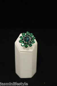 Ladies-Indian-Bollywood-Party-Costume-Crystal-Diamante-Jewellery-Finger-Ring