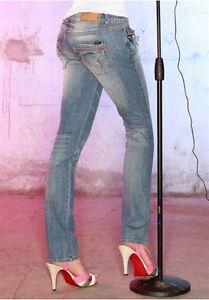 Only-Jeans-Jolina-NEU-W26-W31-L34-Damen-Denim-Hose-Stretch-Blau-Used-Blue