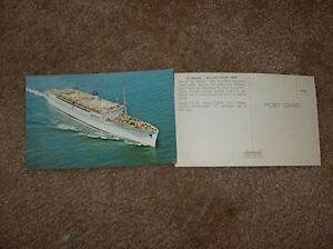 VINTAGE SS LURLINE MATSON LUXURY LINER POSTCARD CALIFORNIA TO - Cruise from california to hawaii