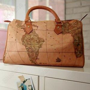 Image Is Loading Womens World Map Print Boston Travel Travelling Weekend