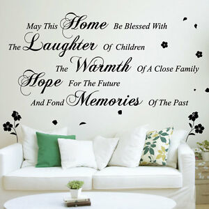 May this home wall art quotes wall stickers wall for Wall mural quotes
