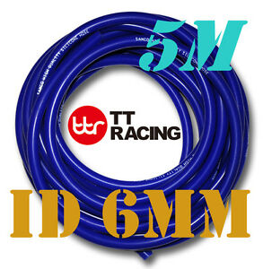 Silicone-1-4-034-6mm-Vacuum-Tube-Hose-Tubing-Radiator-Breather-Air-Pipe-5-meters