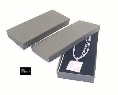 10 Multi Purpose Long Necklace Boxes 93x207mm - Colour & Insert Option (size 8)