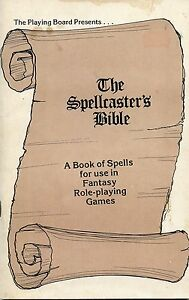RARE THE SPELLCASTER'S BIBLE EX/VF! The Playing Board 1979 OD&D Dungeons Dragons