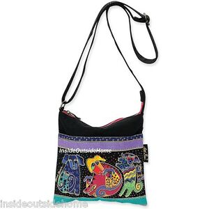 Laurel Burch Dancing Dogs Doggies Medium Small Tote Bag CrossBody ...
