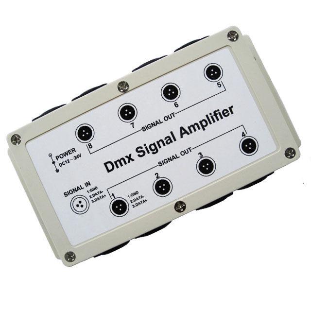 DMX 8 Channel DMX512 Output LED Controller Signal Amplifier Splitter Distributor