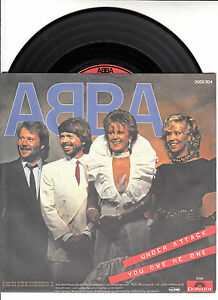 ABBA-Under-Attack-amp-You-Owe-Me-One-PICTURE-SLEEVE-7-034-45-rpm-record-BRAND-NEW