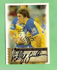 2003 RUGBY LEAGUE CARD - FF38 ASHLEY GRAHAM SIGNATURE, PARRAMATTA EELS