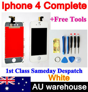 iPhone-4-Replacement-LCD-Digitizer-Touch-Screen-Front-Glass-Assembly-WHITE-AU