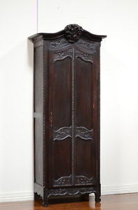 Amazing Image Is Loading 55638 Antique French Country Oak Single Door Armoire