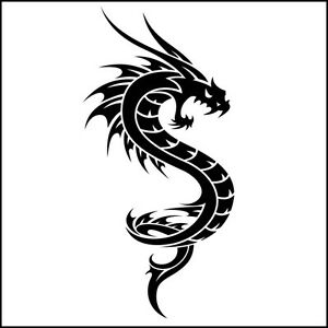 Cm Dragon Decal Vinyl Sticker Tribal Art Tatoo Car Window Drift - Bike vinyl stickers