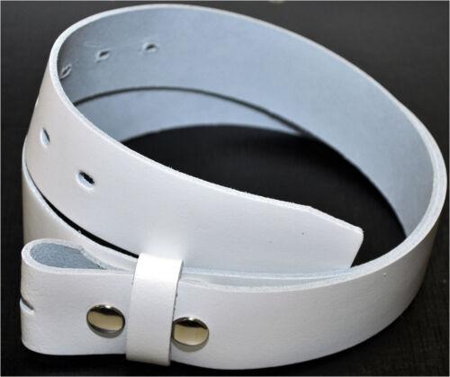 A partire da 10,90 euro 3,5cm bottone a pressione Vera Pelle Cintura colore /& lunghezza selezionabile