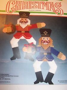 how to sell crafts nutcrackers deco bottle cover 7 ct plastic canvas 4723