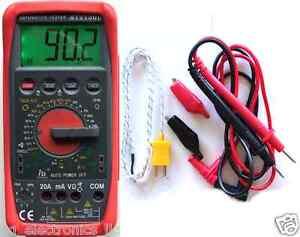 Didital-Tachometer-TACH-DWELL-Tester-MultimeterAT2150B-Automative-from-USA