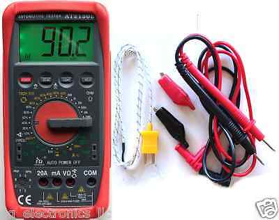 Didital Tachometer TACH DWELL Tester MultimeterAT2150B Automative from USA