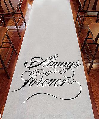 """75 '  """"Always & Forever""""  Wedding Aisle Runner"""