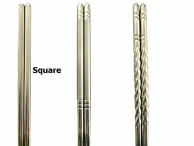 5 Pairs Chinese / Japanese Stainless Steel Chopstick JW