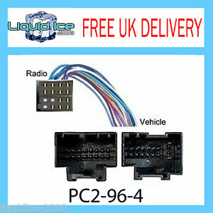 pc saab iso stereo head unit harness adaptor wiring image is loading pc2 96 4 saab 9 3 9 5