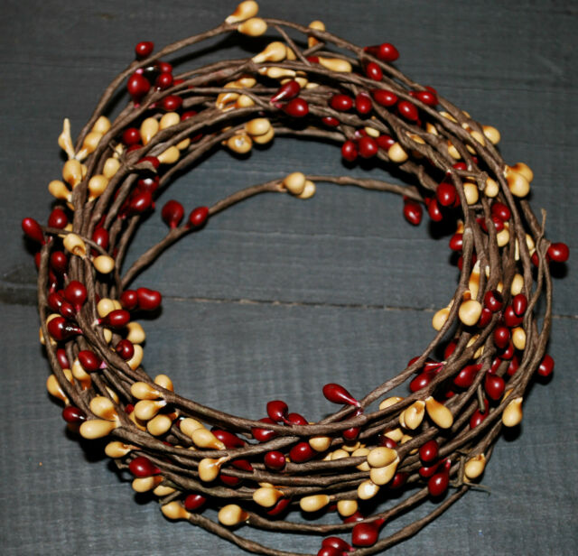 PRIVATE LISTING  for AMY --- 18ft Pip BERRY GARLAND -BURGUNDY &  GOLD