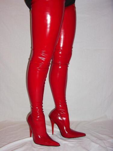 Overknee Stiefel Latex 100% 36 37 38 39 40 41 42 43 44 45 46 47 Bolingier FS406