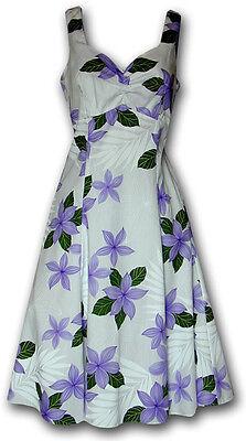 Sundress Hawaiian Tropical Princess Plumeria 330-3591 NEW Made in Hawaii, USA