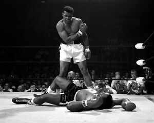 1965 Title Fight MUHAMMAD ALI vs SONNY LISTON Glossy 16x20 Boxing Photo Print