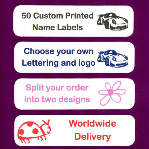 50 Iron On School Name Labels Name Tags Garment Labels