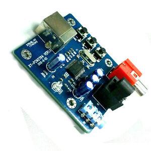 1pcs PCM2704 USB DAC USB to S//PDIF Sound Card Decoder Board 3.5mm Analog Output