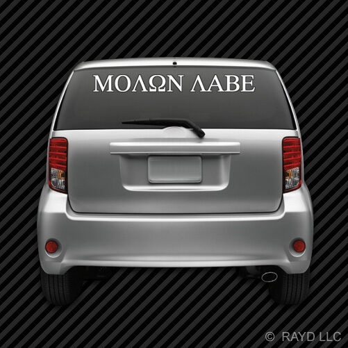 Molon Labe Windshield Sticker Die Cut Decal Self Adhesive Vinyl 2A Large #2
