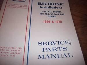 Factory Wiring Book, Service/Parts manual 1969-70 Cessna 180,185,U206,207