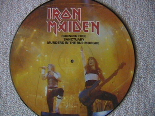 "IRON MAIDEN ""RUNNING FREE"" LP 12"" PICTURE DISC 1995 NWOBHM"
