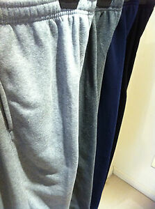 New-Mens-Fleecy-PlainTracksuit-Bottom-Jogging-Running-Track-Pants-S-M-L-XL-XXL
