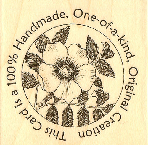 Original Creation Flower Circle Seal Wood Mounted Stamp IMPRESSION OBSESSION NEW