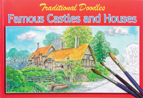 TRADITIONAL DOODLE COLOURING PAINTING SKETCH BOOKS FOR OLDER CHILDREN /& ADULTS