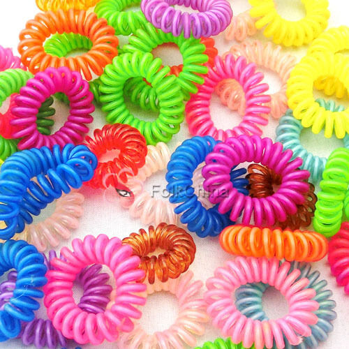 10pcs Candy Color Small Plastic Flexible Hair Accessory Rings LDY-HAS-H