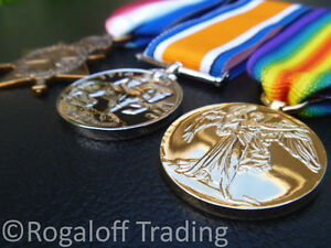 World-War-I-Medal-Trio-Set-1914-15-Star-BWM-and-Victory-Medals