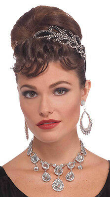 Vintage Hollywood Starlet Diamond Necklace Halloween Costume Accessory 68125