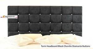 Turin-Chenille-Headboard-All-Sizes-amp-Colours-Diamante-Buttons-ESUPASAVER-SALE
