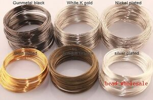 Silver-Gold-Plated-Memory-Steel-Wire-For-Cuff-Bangle-Bracelet-0-6mm-any-color