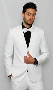 Slim-Fit-Men-Suit-White-Semi-Shiny-2-Button-Flat-Front-Pants-Slim-Style-Suit