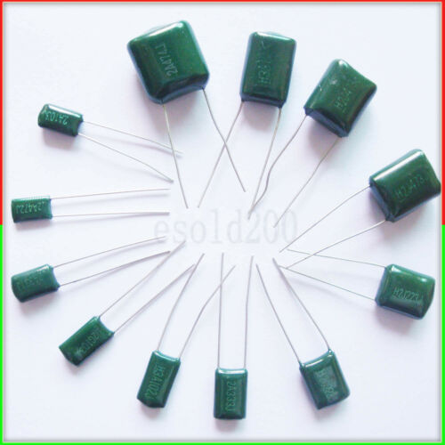 20 PCS x 100V 0.1uF 100nF 100000pF 2A104 J ±5% Mylar Film Capacitors Radial NEW
