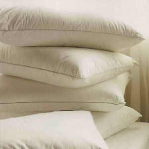 2xLuxury-Duck-Feather-and-Down-Pillows-Size-29-x19-100-Cotton-Cambric-Cover