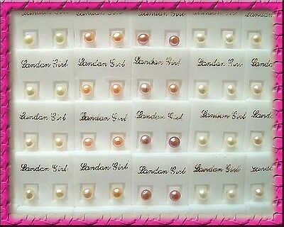 Wholesale 100Pairs 6mm Genuine Freshwater Pearl Stud Earring